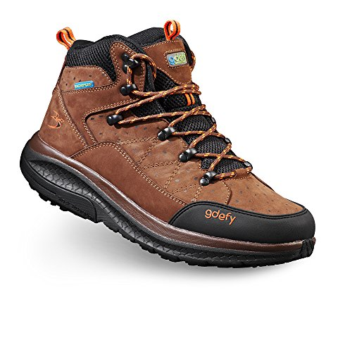 Gravity Defyer Women's G-Defy Trail Lane Hiking Boots 8 M US Extra Support Good for Heel Pain Brown