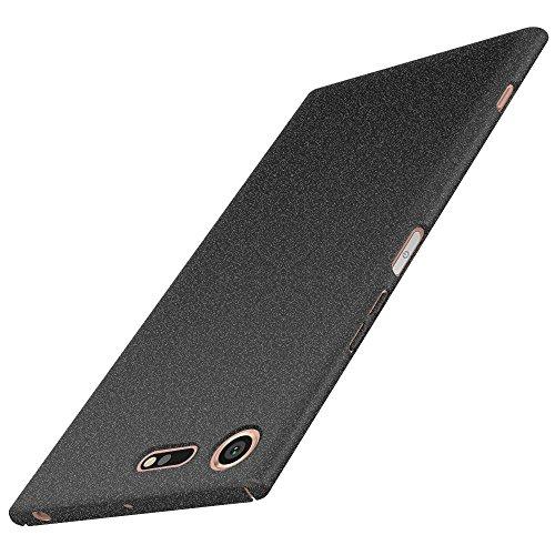 Anccer Funda Sony Xperia XZ Premium [Serie Colorida] [Ultra-Delgado] [Ligera] Anti-rasguños Estuche para Case Sony Xperia XZ Premium (Grava Negro)