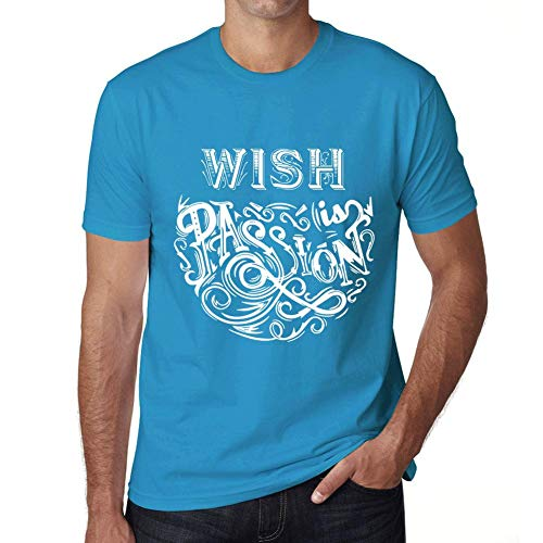 One in the City Hombre Camiseta Gráfico T-Shirt Wish Is Passion Azul