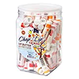 CHAP-LIP Lip Balm 60 Ct. with Fruit Flavors, Cocoa Butter, Coconut Oil | Moisturizing Vitamin E & Total Hydration Treatment & Soothing Lip Therapy