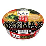 寿がきや 吉祥寺武蔵家 家系MAX 豚骨醤油ラーメン 133g ×12個