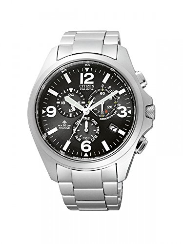 Citizen Promaster Herren-Armbanduhr Chronograph Quarz Titan Funk As4030-59E
