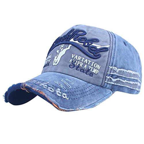 ZARLLE 2018 Nueva Gorra De BéIsbo, Hombres Mujer BéIsbol Gorra Casual Al Aire Libre Deportes De Moda Ajustable De Apliques Carta NúMero Bordado Baseball Cap Hat Outdoor Hat (Talla única, FFF)