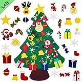 Kosiehouse DIY Felt Christmas Tree Set with 30pcs Detachable Ornaments, New Year Kids Xmas Gifts Handmade Door...