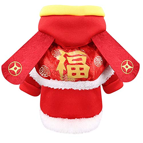 Lowest Price! GOTOCO. Classical Chinese New Year Pet Dog/Cat Hooded Clothes, Ultra Plush Pet Hoodie ...