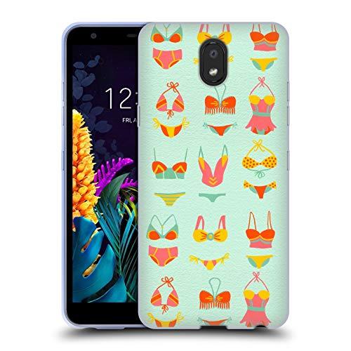Officiële Cat Coquillette Bikini Mint Zomer Soft Gel Case Compatibel voor LG K30 (2019)