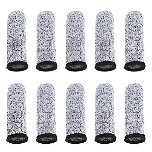 Artibetter 10 Stück Schnittfeste Fingerbetten Daumenschutz Sicherheitsfinger Ärmel für Die Arbeit Küche Carving Picking DIY Grau