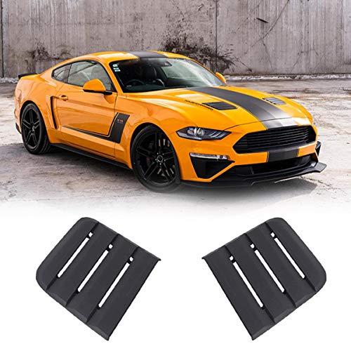 NICOLIE Cubierta Negra para Extractores De Calor De Ventilación para 2018-2019 Compatible con Ford Compatible con Mustang 422083