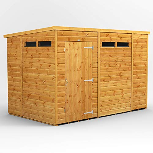 POWER | 10x6 Pent Security Wooden Garden Shed | Size 10 x 6 | Secure Sheds with super fast delivery