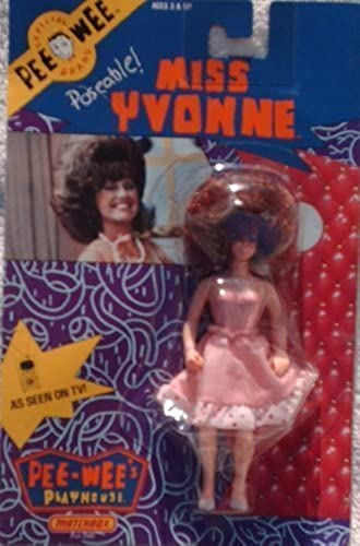 Original Pee-Wee's Playhouse Poseable MISS YVONNE 6  tall Action Figure (1988 Matchbox) by Pee-Wee