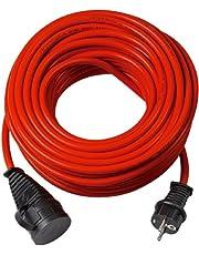 Brennenstuhl BREMAXX® verlengsnoer (10m kabel in rood, voor kortstondig buitengebruik IP44, stroomkabel bruikbaar tot -35 °C, olie- en UV-bestendig)