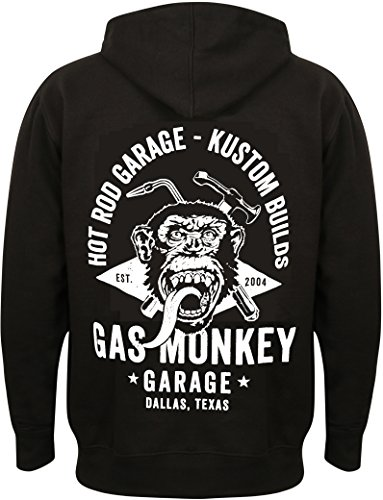 Gas Monkey Garage Hoodie Torch & Hammer Zip Black-XXL