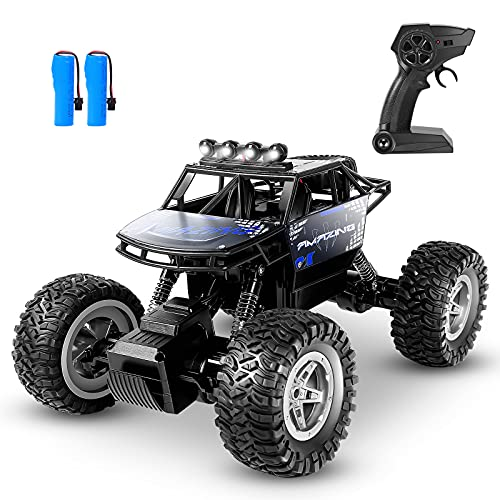HENEROAR RC Cars,1:14 Scale All Terrain Remote Control Car, 4WD 2.4GHz Off Road Monster Vehicle RC Truck Crawler with Dual Motors, 2 Rechargeable Batteries for 90 Min Play, Toy Gift for Boys Girls