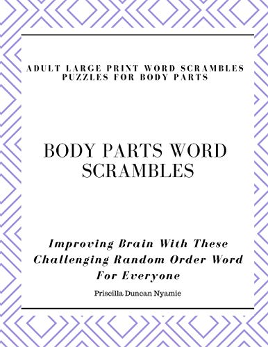 Word Search Puzzle Body Parts