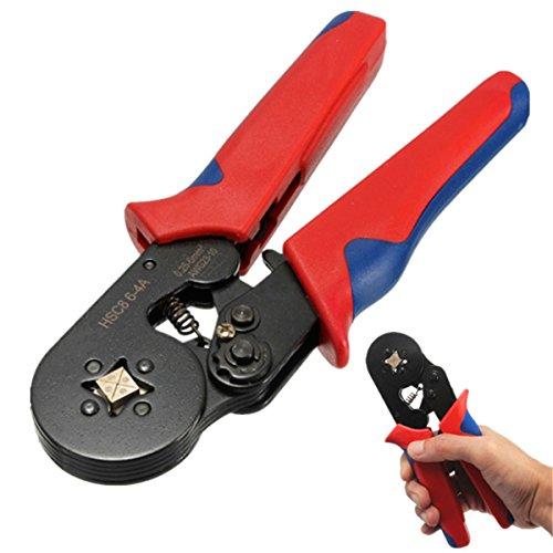 HSC8 6-4A AWG23-10 Wire Stripper Self Adjusting Crimping Plier Ratcheting Ferrule Crimper Tool