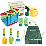 Kinder Gartengeräte Set Spielwerkzeuge für Strand, Garten Werkzeuge Geschenk für Junge Mädchen -...