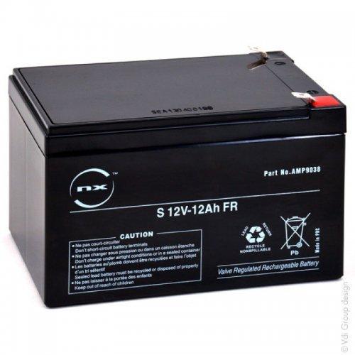 Batterie plomb AGM S 12V-12Ah FR 12V 12Ah T2