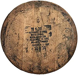 Authentic Stamped, Distiller Reclaimed Bourbon Whiskey Barrel Kit - Comes Ready to Hang with Barrel Head, Backing Board and Mounting Hardware