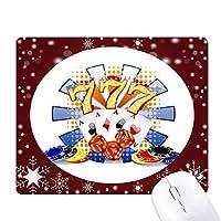 カジノのダイスポーカーチップのイラスト オフィス用雪ゴムマウスパッド