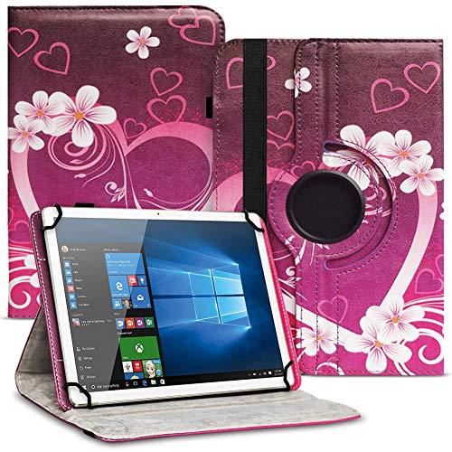 UC-Express Tablet Schutzhülle kompatibel für Asus ZenPad 10 Z301ML Z301MFL Z300M Hülle Tasche 360° Drehbar Kunstleder Standfunktion Cover Universal Hülle, Farben:Motiv 2