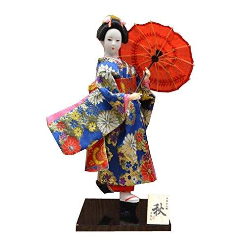 Black Temptation Kimono japonés muñeca Geisha estatuilla Adornos Regalo Arte artesanía colección / Regalo, B