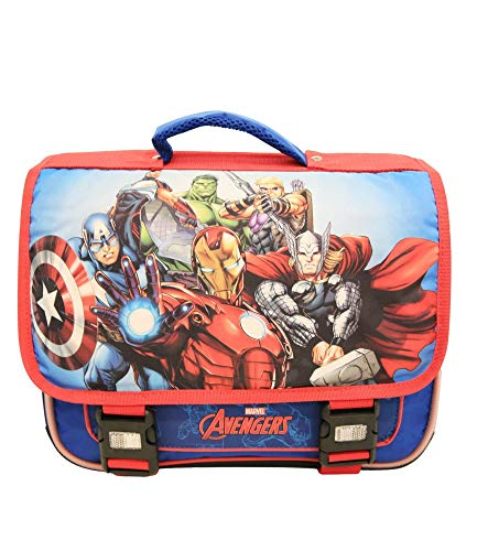 Cartable bleu et rouge Avengers Marvel