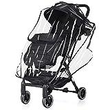 GOPLUS Kinderbuggy Buggy Kinderwagen Babybuggy Babywagen mit Regenschutz Fußsack klappbar (schwarz)
