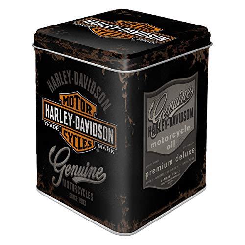 Nostalgic-Art Contenitori Retro Harley-Davidson – – Idea Regalo per Amanti di Moto, Sfuso e bustine di tè, Design Vintage, 100 g