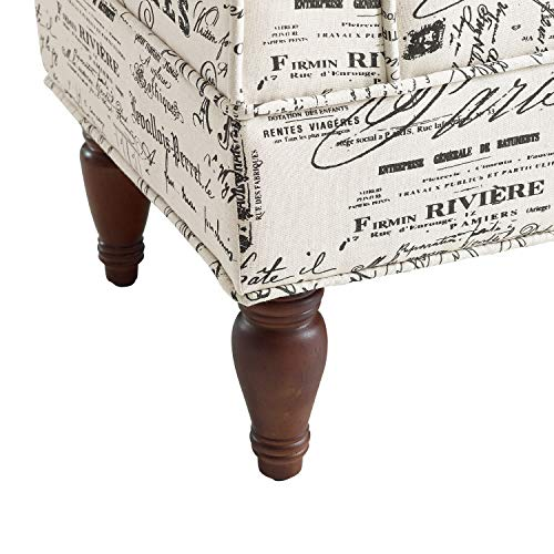 Linon Lillian Bench, Linen