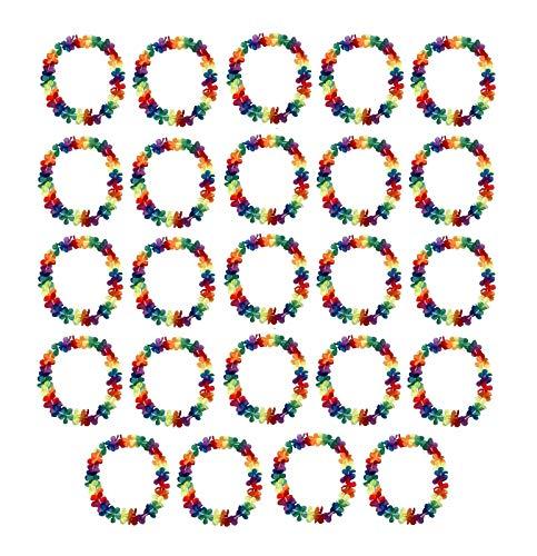 Sonnenscheinschuhe® 24 x Hawaii Blumenkette 96cm Halskette Fastnacht Sommer Party Deko Hawaiikette
