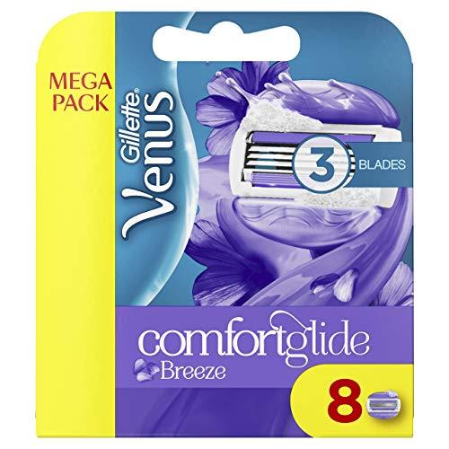 Gillette venus breeze - Cuchillas de recambio para maquinilla de afeitar (el embalaje puede variar) - paquete de 8 unidades
