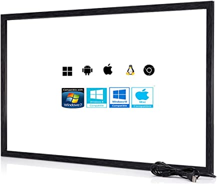 $191 Get Chengying 40 Inch 10 Points Multi-Touch Infrared Touch Frame IR Touch Panel 40 Inches Infrared Touch Overlay USB Driver Free HID Compatible