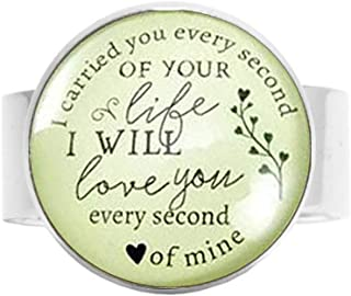 I Carried You Every Second of Your Life Miscarriage Ring Vintage Baby Loss Angel Charm Remembrance Jewelry
