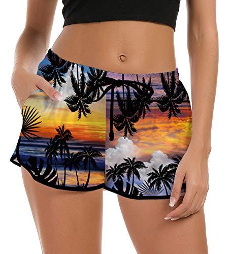 NEWISTAR - Bañador corto para mujer, diseño con gráficos 3D, secado rápido, para playa, verano, tiempo libre, gimnasio, yoga, etc. piña 38-40