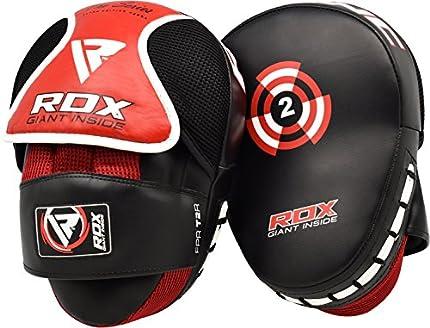 RDX Maya Hide Cuero MMA Par Escudo Sciopero Gancho Jab Pastillas Boxeo Thai Pao Artes Marciales Entrenamiento