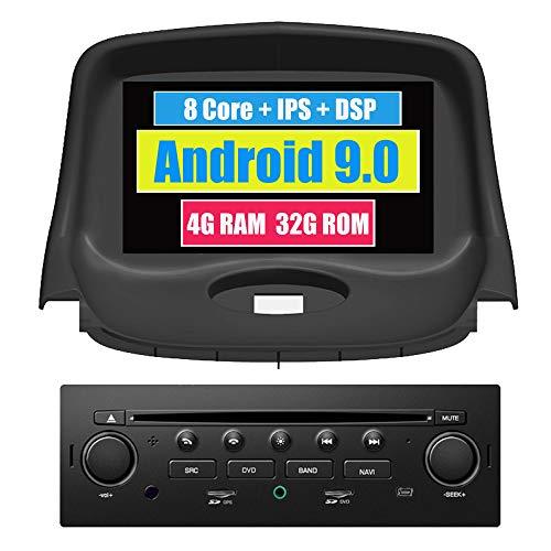 Roverone Système Android 7 Pouces double DIN Autoradio GPS pour Peugeot 206 206 CC avec 206sw de navigation DVD Autoradio stéréo Bluetooth SD USB écran tactile