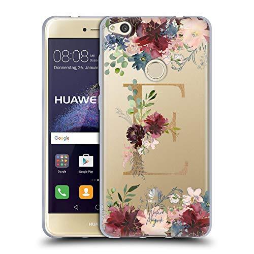 Head Case Designs Oficial Nature Magick Letra E Flores Monograma Oro 1 Carcasa de Gel de Silicona Compatible con Huawei P8 Lite (2017)
