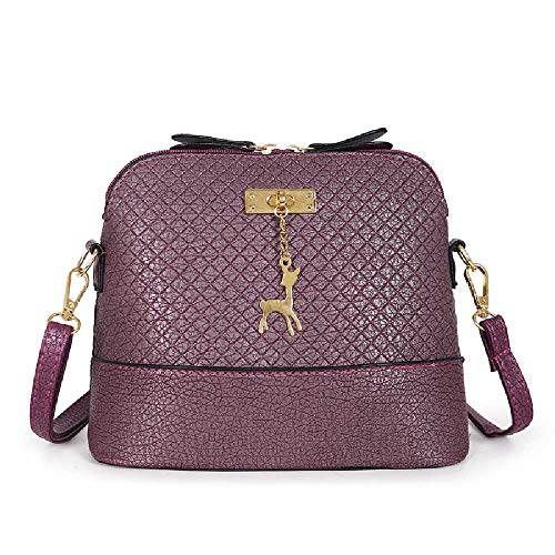 Amiemie Dames Shell One Shoulder Slash Bag 23 cm x 10 cm x 18 cm/donkerpaars