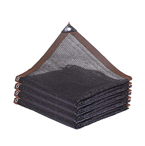 Black Heat Insulation Net Sunscreen Shading Cloth Net Encryption Protection Plant Flowers Pet Kennel Outdoor Shading Cloth (Size : 3m×6m)