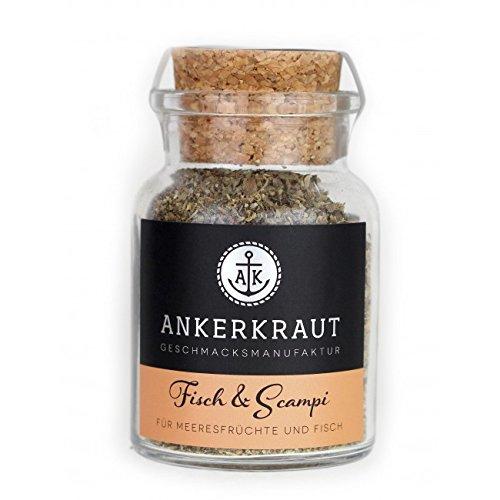 Ankerkraut Fisch & Scampi Trockenmarinade / BBQ-Rub, 70g im Korkenglas