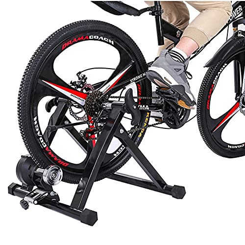 WYJW Soporte para Entrenador de Bicicleta Inteligente, Soporte para Bicicleta estacionario con reducción de Ruido silencioso, 6 Engranajes, para Ruedas de 26 a 28 Pulgadas Soporte para