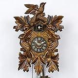 Haus der 1000 Uhren Schwarzwälder Kuckucksuhr - Vogelmotiv - Mit Batterie/Quarzuhr - Handgefertigt -
