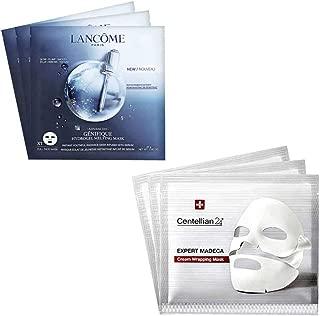 Lancome Genifique Hydrogel Melting Mask 3pcs & Centellian24 Expert Madeca Cream Wrapping Mask 3pcs