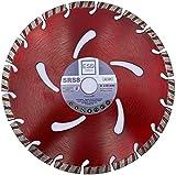 ESD-TOOLS Disco de corte de diamante, 230 x 22,2 mm, para hormigón, turbo, soldado con láser, para cortar hormigón, bordillo, hormigón armado, piedra compuesta, materiales de construcción en general