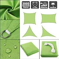 DJZYB サンシェイドセイルガーデンテラスキャノピー防水300Dスイミングサンシェイドキャンプハイキングシェードセイル緑の四角形と三角形16のサイズ(カラー、グリーン、サイズ、2x4M)、グリーン、3.6x3.6M Z4Y0B8 (色 : 緑, サイズ : 3.6x3.6M)