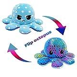 NL Doble cara Flip Octopus peluche reversible suave pulpo Animals juguete muñeca regalos para 0-3 3-6 6-9 6-18 meses 1-6 años