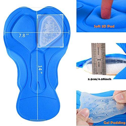 SWAMPLAND Radlerunterhose Herren Fahrradunterhose Gepolstert Fahrradunterwäsche Atmungsaktiv Radhose Radlerhose MTB Hose Polster Blau XS - 6