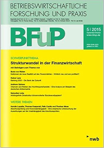 Strukturwandel in der Finanzwirtschaft: BFuP 5/2015.
