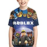 Robloxs t-Shirts Short Sleeves Crewneck T-Shirts for Boys and Girls XL.