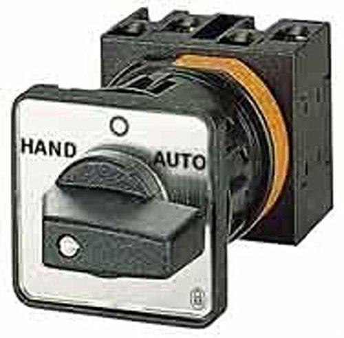 Eaton 215222 Umschalter, Kontakte: 8, 32 A, Frontschild: Netz-0-Notstrom, 45 Grad, Rastend, Einbau